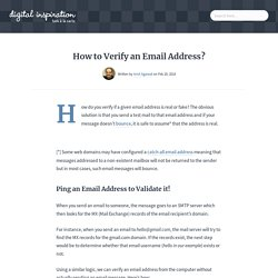 How to Verify if an Email Address Is Real or Fake