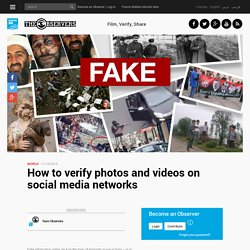 How to verify photos and videos on social media networks