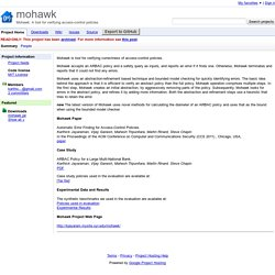 mohawk - Mohawk: A tool for verifying access-control policies