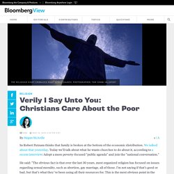 Verily I Say Unto You: Christians Care About the Poor