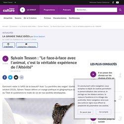 """Sylvain Tesson : """"Le face-à-face avec l'animal, c'est la véritable expérience de l'Altérité"""""""
