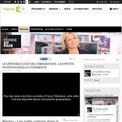 Le véritable coût de l'immigration - Les petits patrons dans la tourmente - 13/10/2015 - News et vidéos en replay - Le monde en face