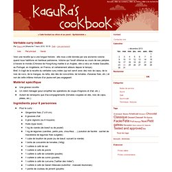 Véritable curry indien - Kagura's Cookbook