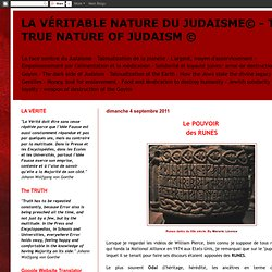 LA VÉRITABLE NATURE DU JUDAISME© - THE TRUE NATURE OF JUDAISM ©
