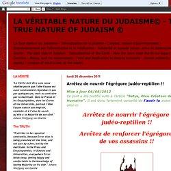 LA VÉRITABLE NATURE DU JUDAISME© - THE TRUE NATURE OF JUDAISM ©