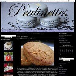 La véritable recette des Spéculoos - Pralinettes
