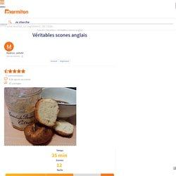 Véritables scones anglais : Recette de Véritables scones anglais