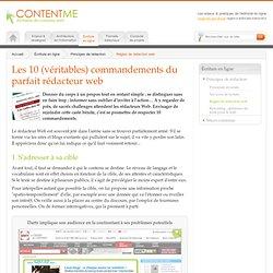 Les 10 (véritables) commandements du parfait rédacteur web