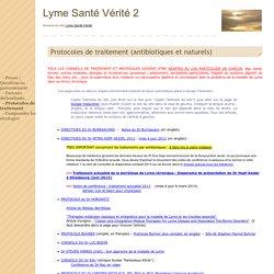 Lyme Santé Vérité 2 - - Protocoles de traitement