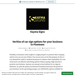 Verities of car sign options for your business in Pinetown – Kayma Signs