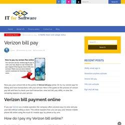 How Do I Pay My Verizon Fios Bill Online?