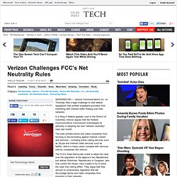Verizon Challenges FCC's Net Neutrality Rules