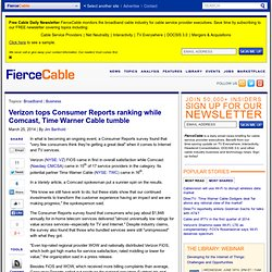 Verizon tops Consumer Reports ranking while Comcast, Time Warner Cable tumble