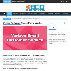 Verizon Customer Service Phone Number For Product Assistance