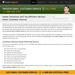 1-888-593-5107 Verizon Email Customer Service Number