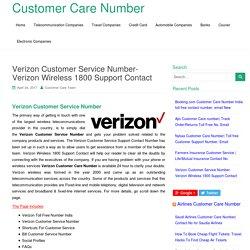 Verizon Customer Service Number