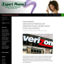 Verizon Improved Prepaid Plans