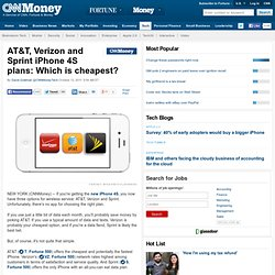 AT&T, Verizon and Sprint iPhone 4S plans: Which is cheapest? - Oct. 12
