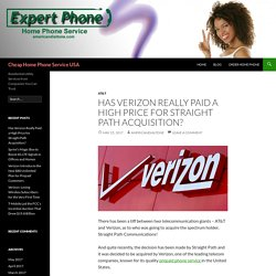 Verizone Acquire Straight Path Communications