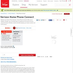 Verizon Home Phone Connect - Home Phone Service