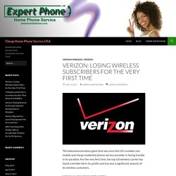 Verizon Losing its Wireless Subscribers for the First Time