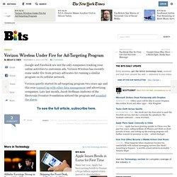 Verizon Wireless Under Fire for Ad-Targeting Program