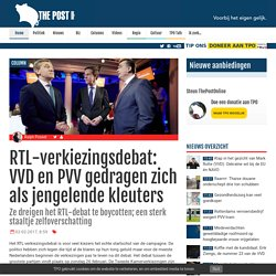 RTL-verkiezingsdebat: VVD en PVV gedragen zich als jengelende kleuters
