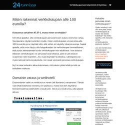 Miten rakennat verkkokaupan alle 100 eurolla? - 24tunnissa.fi