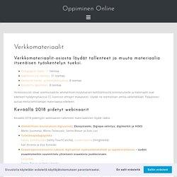 Verkkomateriaalit – Oppiminen Online