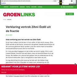 Verklaring vertrek Zihni Özdil uit de fractie
