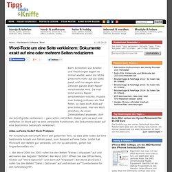 Word-Texte um eine Seite verkleinern: Dokumente exakt auf eine oder mehrere Seiten reduzieren