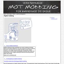 Verktøykasse mot mobbing : Digital mobbing