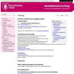 skolbiblioteksverktyg - Verktyg