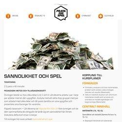 Verktyg, övningar och kunskapsbank för arbete med spel om pengar i skolan