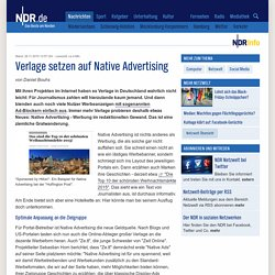 Verlage setzen auf Native Advertising