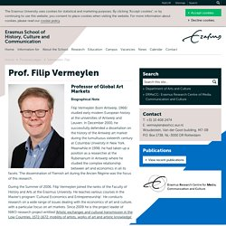 Vermeylen, Filip : Erasmus School of History, Culture and Communication