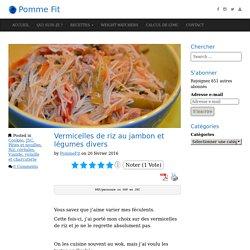Vermicelles de riz au jambon et légumes divers - Pomme Fit
