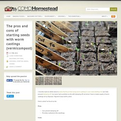 The pros and cons of starting seeds with worm castings (vermicompost)