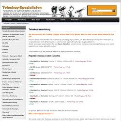 Teleskop Vermietung & Verleih in München - Teleskop-Spezialisten