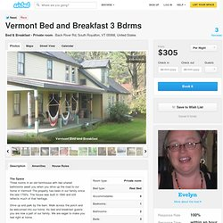 Vermont Bed and Breakfast in South Royalton