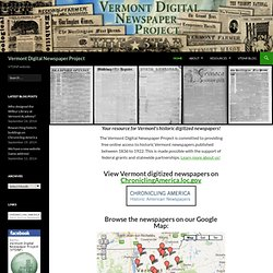 VT Digital Newspaper Project