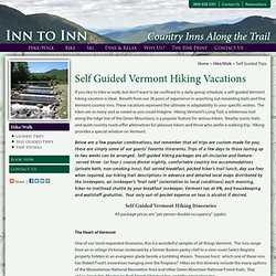 Vermont Self Guided Hiking Trip Appalachian Trail Hiking Trips VT