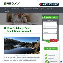 Vermont - Debt Resolution - Debt Relief