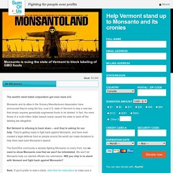 Help Vermont stand up to Monsanto