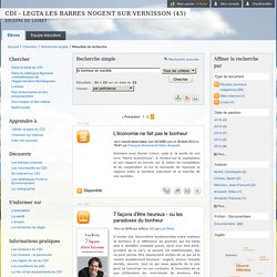 CDI - LEGTA LES BARRES NOGENT SUR VERNISSON (45) - Résultats de recherche