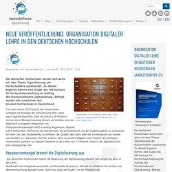 Neue Veröffentlichung: Organisation digitaler Lehre in den deutschen Hochschulen