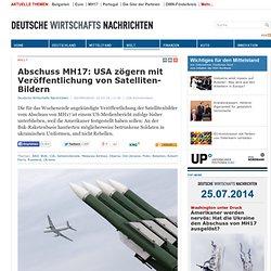 Abschuss MH17: USA zögern mit Veröffentlichung von Satelliten-Bildern