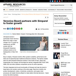 Veronica Beard partners with Simparel to foster growth