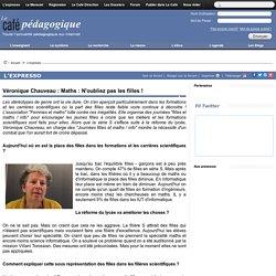 """Itw de Véronique Chauveau de l'association """"Femmes et maths"""""""