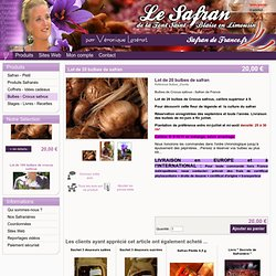 Lot 20 bulbes safran de France - Véronique Lazérat